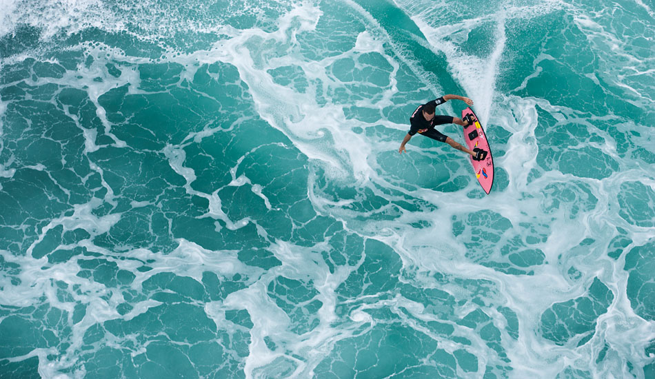 """Jamie Sterling tow Surfing at Phantoms. Photo: <a href=\""""http://seandavey.com/\"""" target=_blank>Sean Davey</a>"""