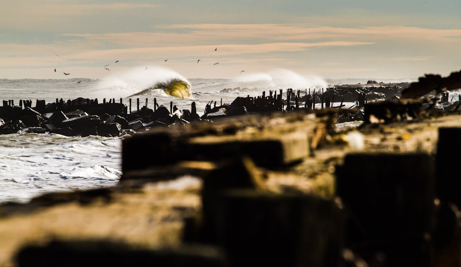 A Deal, NJ landscape with a backwash wave opening up. Photo: Christor Lukasiewicz