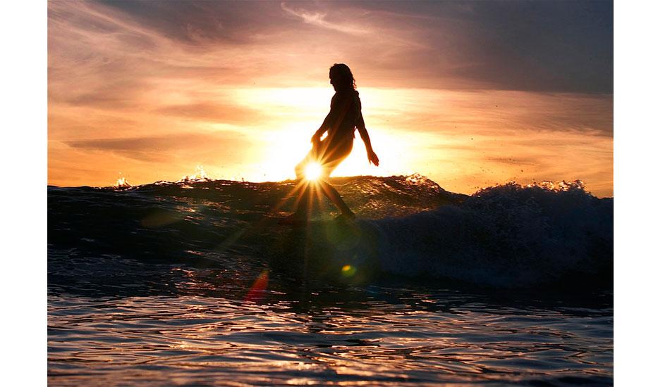 Martin Cabada. Walking on water. Photo: Robb Wilson