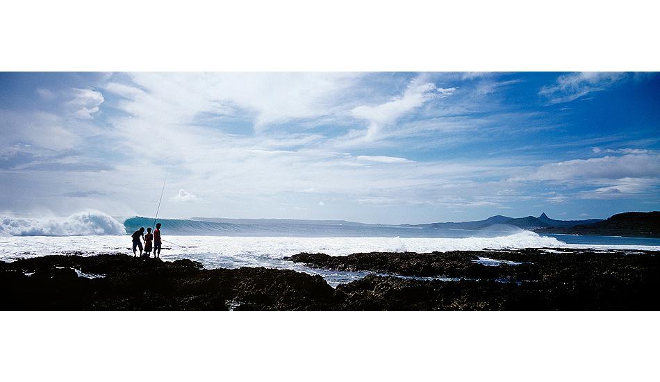 "Boys fishing, typhoon swell. Kenting, Taiwan. Photo: <a href=\""http://www.joecurren.com\"" target=_blank>Joe Curren</a>"