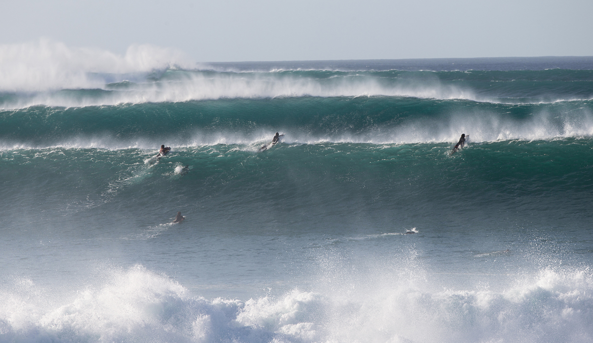 "Pipeline lineup is the craziest wave to watch ever. Every day is a front row seat because it\'s so close that it\'s right in your face. Tourists love it. Photo: <a href=""http://www.brianbielmann.com\"">BrianBielmann.com</a>"