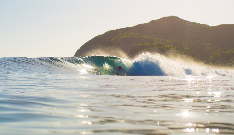 """Greg turned 29 during this trip, and this is him parked in a birthday barrel during a solo session with just him and myself photographing from the channel. Photo: <a href=\""""http://www.nickliotta.com\"""">Nick Liotta</a>"""