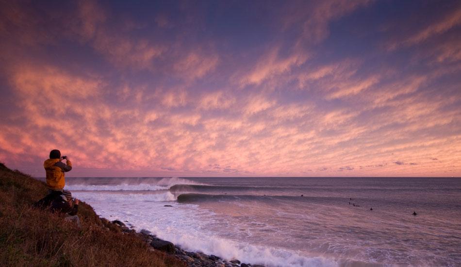 "Sunset session. Photo: <a href=\""http://www.acornart.net\"">Adam Cornick</a>"