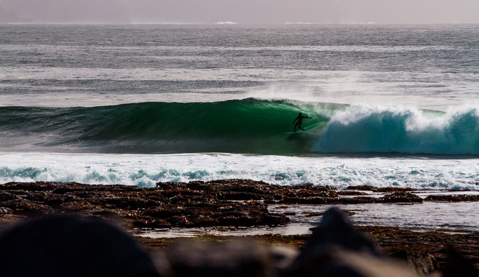 """Kurt Rist on one of the waves of his life. Photo: <a href=\""""http://www.cmcleod.com\"""">Christian McLeod</a>"""