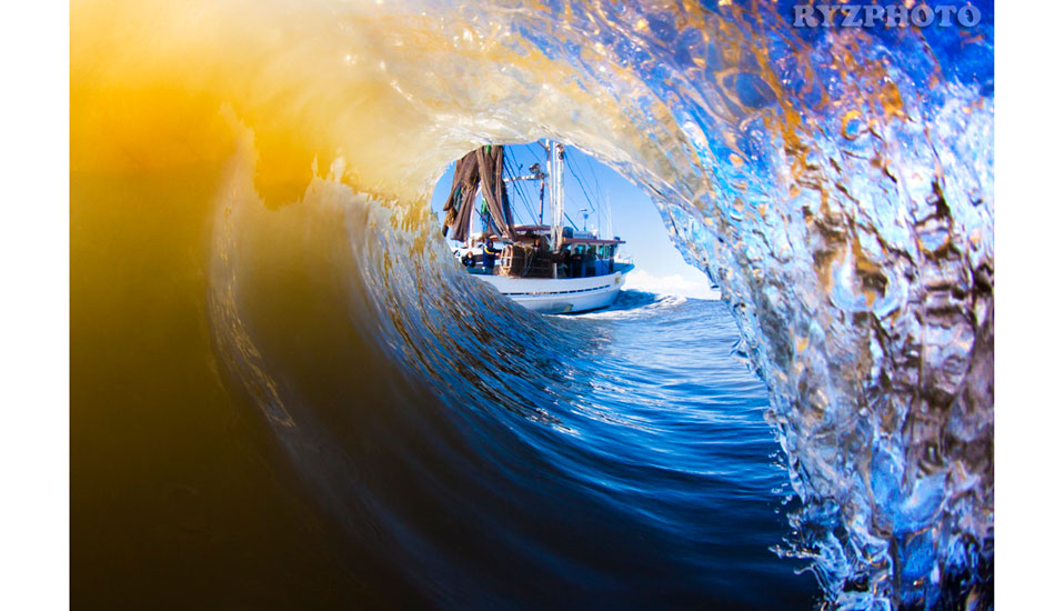 "Yep, that\'s a trawler you can see on the shoulder you can see on the shoulder. It actually created this wave. Photo: <a href=""http://www.ryzphoto.com\"">Ryan Williams</a>"