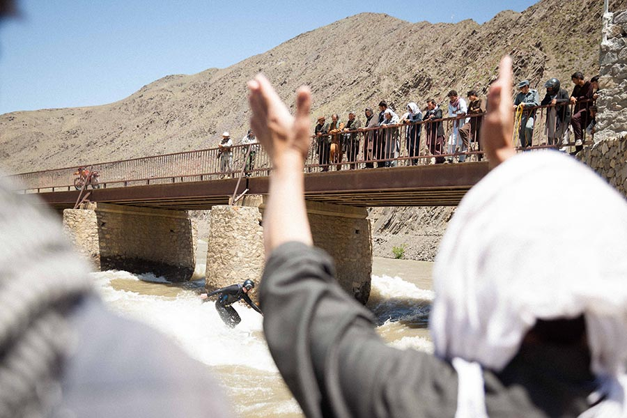 Surfing in Afghanistan is more about the crowds than anywhere else in the world.