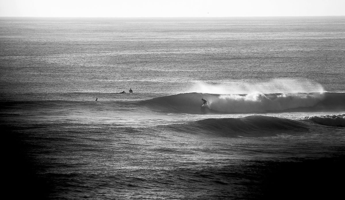 """Greg Emslie in the slot on an early morning point session. Photo: <a href=\""""https://www.facebook.com/pages/Pho-Tye-Studio/398591356893177?fref=nf\""""> Tyerell Jordaan</a>"""