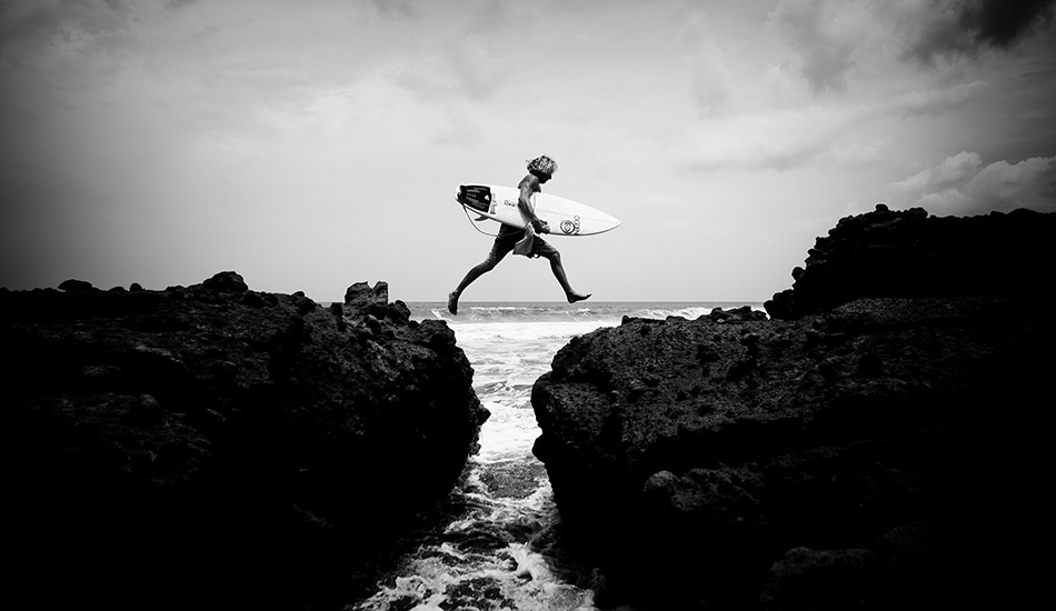 "A leap of faith. Photo: <a href=""http://clarkography.com/\"" target=_blank>Matt Clark.</a>"