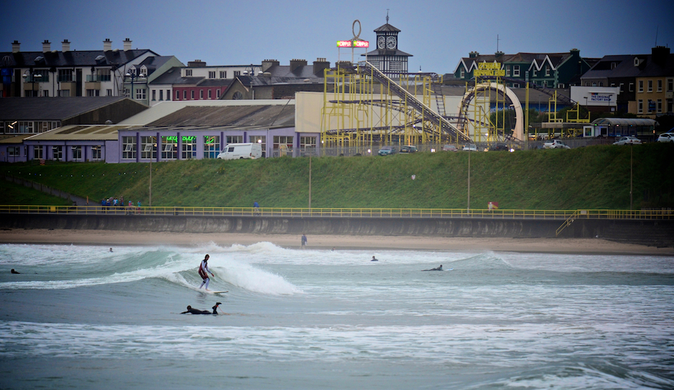 "Summer surf  ""Barry\'s big Dipper.\"" West Strand. Photo: <a href=\""www.andyhillphotography.com\"">Andy Hill</a>"