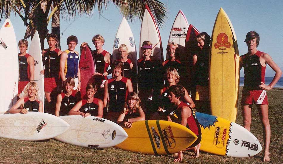 "A youthful bunch of NSSA competitors. Can you name them all? Photo <a href=""http://www.aspworldtour.com\"">courtesy of the ASP</a>"