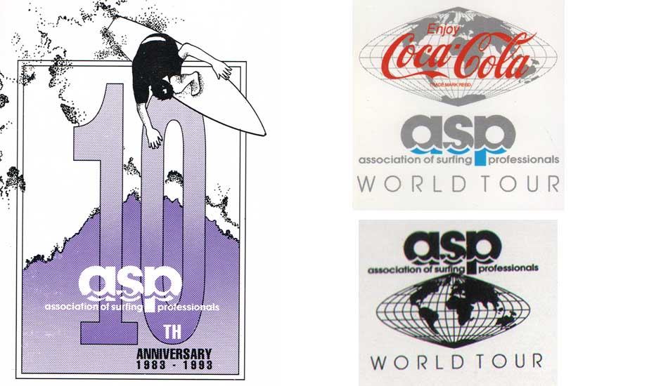 "1993: The ten-year anniversary of the ASP meant a new logo and Coca Cola came on board as the main sponsor. Images <a href=""www.aspworldtour.com\"">courtesy of the ASP</a>"