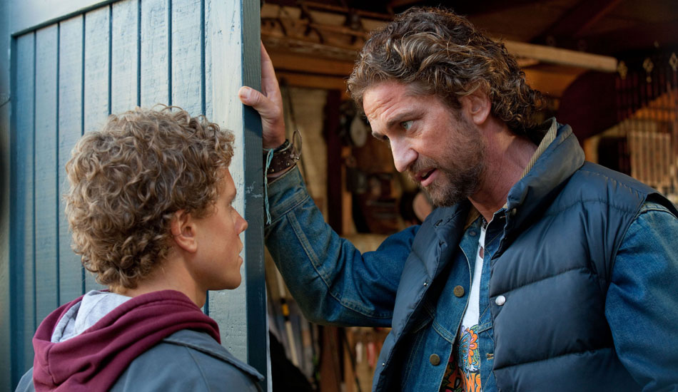 Gerard Butler plays a surrogate father type of role to Jay Moriarity (Jonny Weston).  Photo: 20th Century Fox