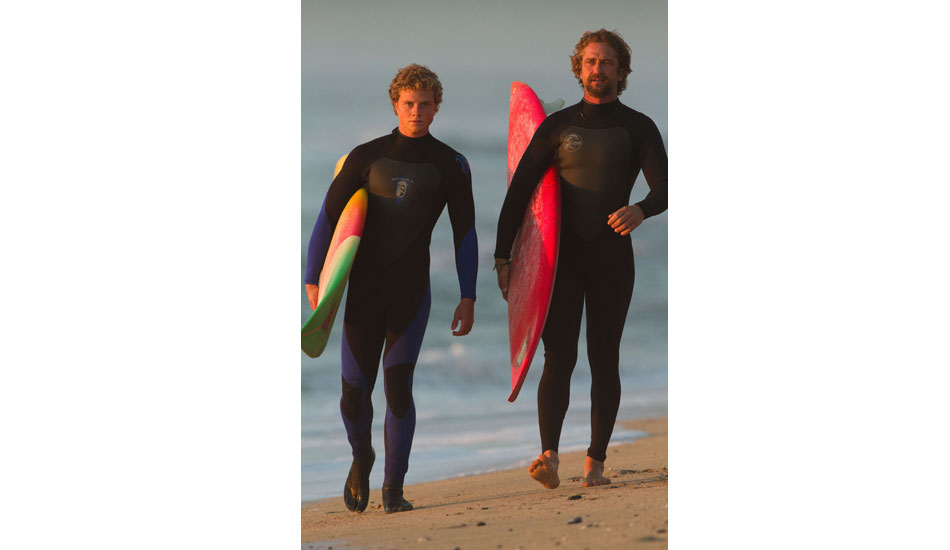Gerard Butler and Jonny Weston walk it out. Photo: 20th Century Fox