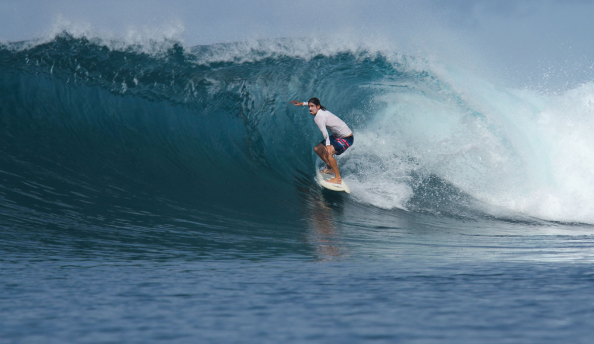 """Bailey knows exactly how to handle this wave. Photo: <a href=\""""http://www.benbireau.com\""""> Ben Bireau</a>"""