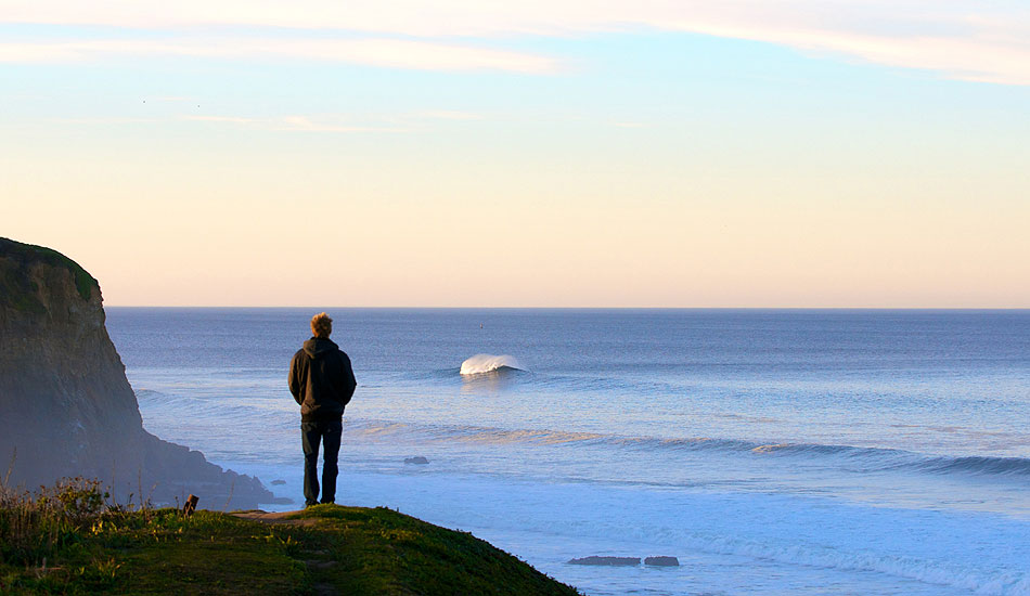 """I\'m obsessed with big waves/big wave surfing. Spencer Pirdy waiting patiently as the swell fills in the morning before the most recent Maverick\'s contest. Photo: <a href=\""""http://driftwoodfoto.com/\"""">Ben Ginsberg</a>"""