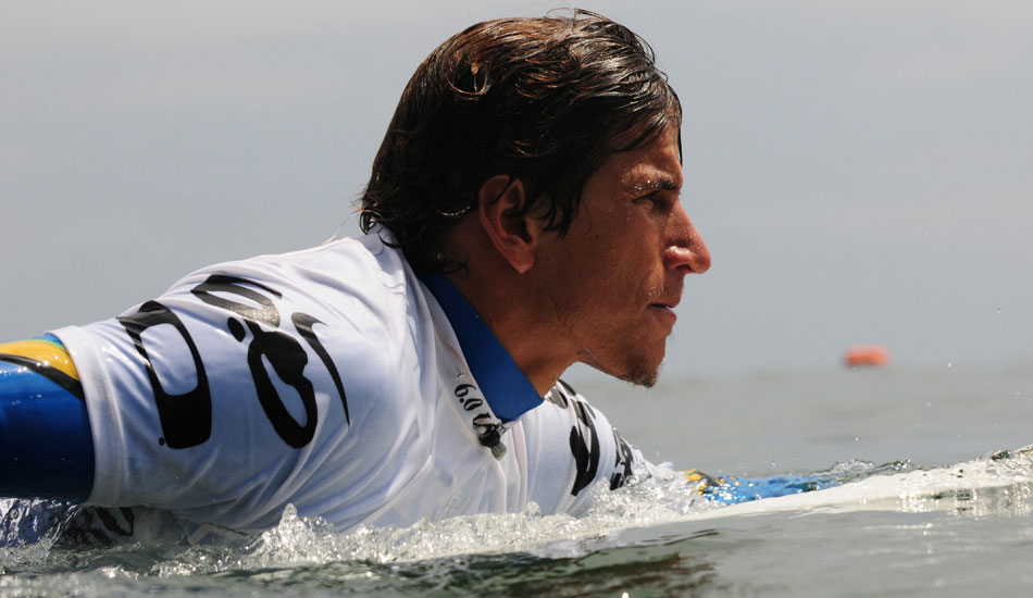 "Water angle close-up of Thiago Camarao at the Lowers Pro a couple years back. I love the natural lighting and his intensity in this shot. Photo: <a href=""http://driftwoodfoto.com/\"">Ben Ginsberg</a>"