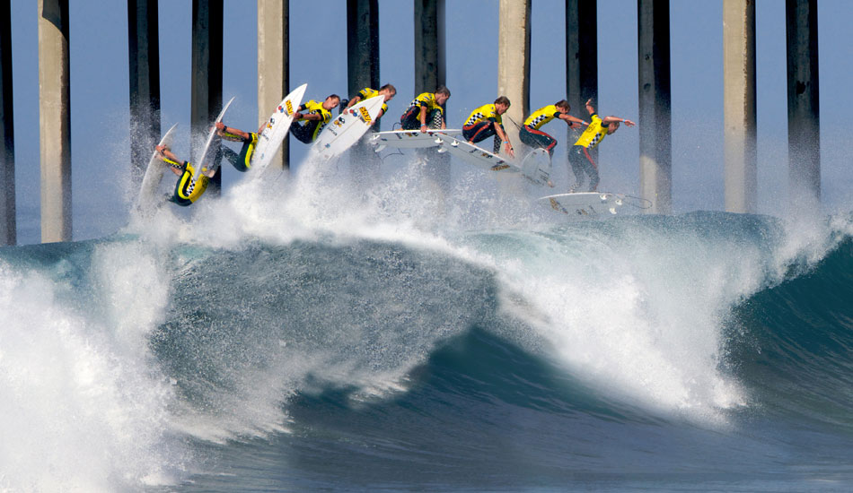"""Sequence of Pat Gudauskas launching a rodeo at this past year\'s US Open of Surfing. Photo: <a href=\""""http://driftwoodfoto.com/\"""">Ben Ginsberg</a>"""