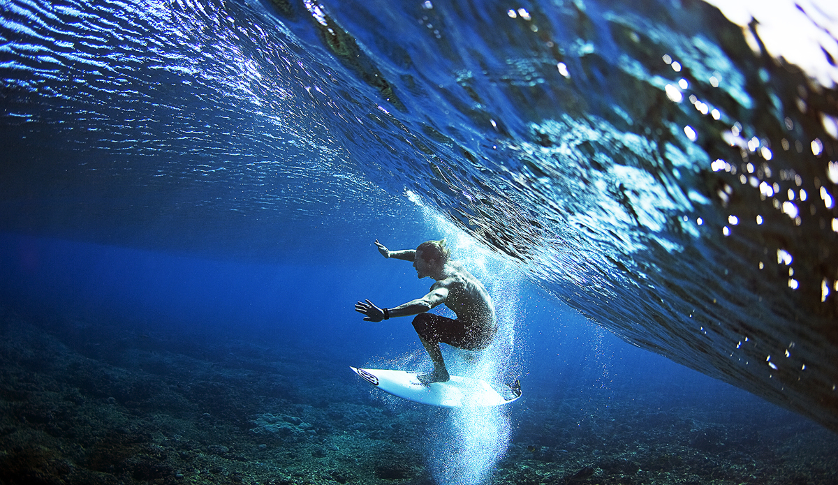 "Andy Irons between this world and another - Tavarua, Fiji. Photo: <a href=""http://www.brianbielmann.com\"">Brian Bielmann</a>"