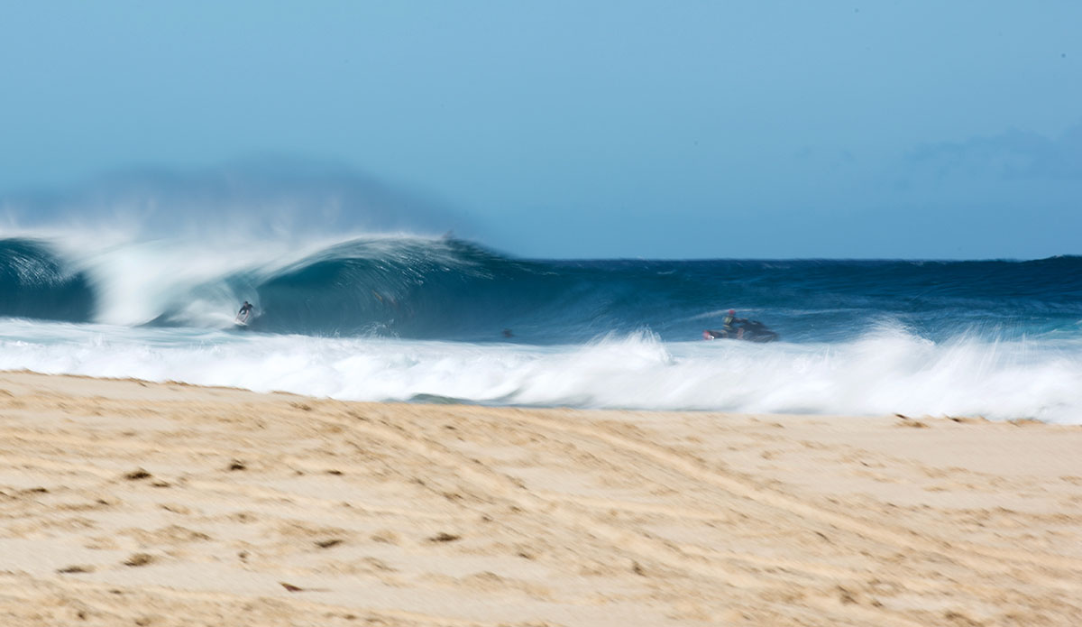 Everything\'s a blur on the North Shore. Photo: Dan Bielich