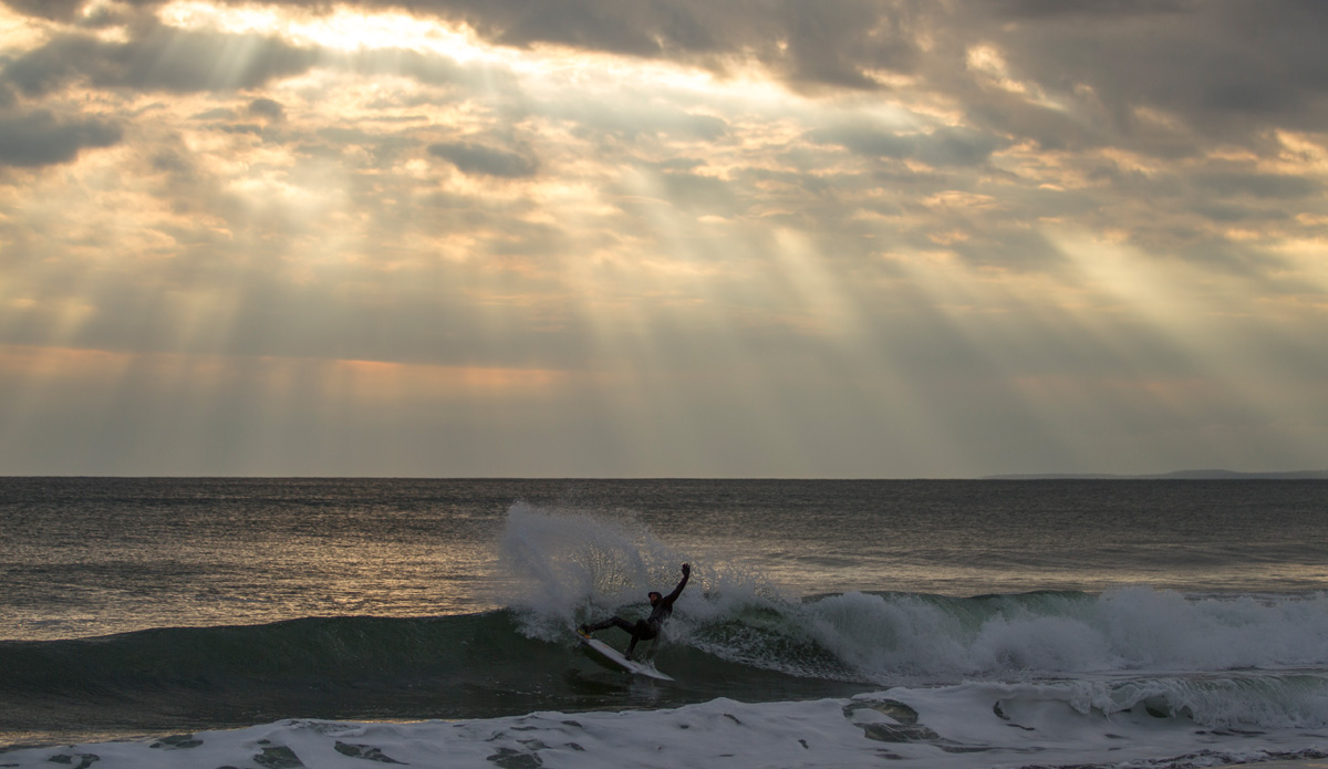 "Tyler McGill finding that morning light. Photo: <a href=\""http://www.bryannicholson.com/\"">Bryan Nicholson</a>"