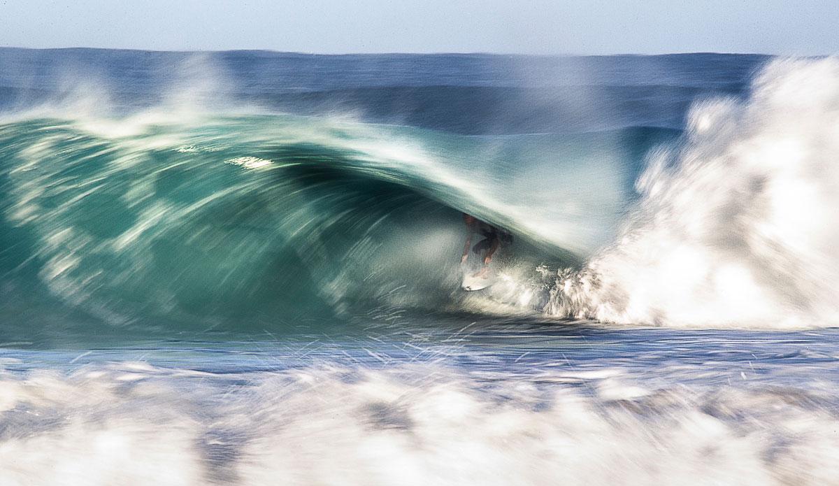 """Taj Burrow sitting pretty in a Yallingup vortex. Photo: <a href=\""""http://johnbarton.net.au/\"""">John Barton</a>"""