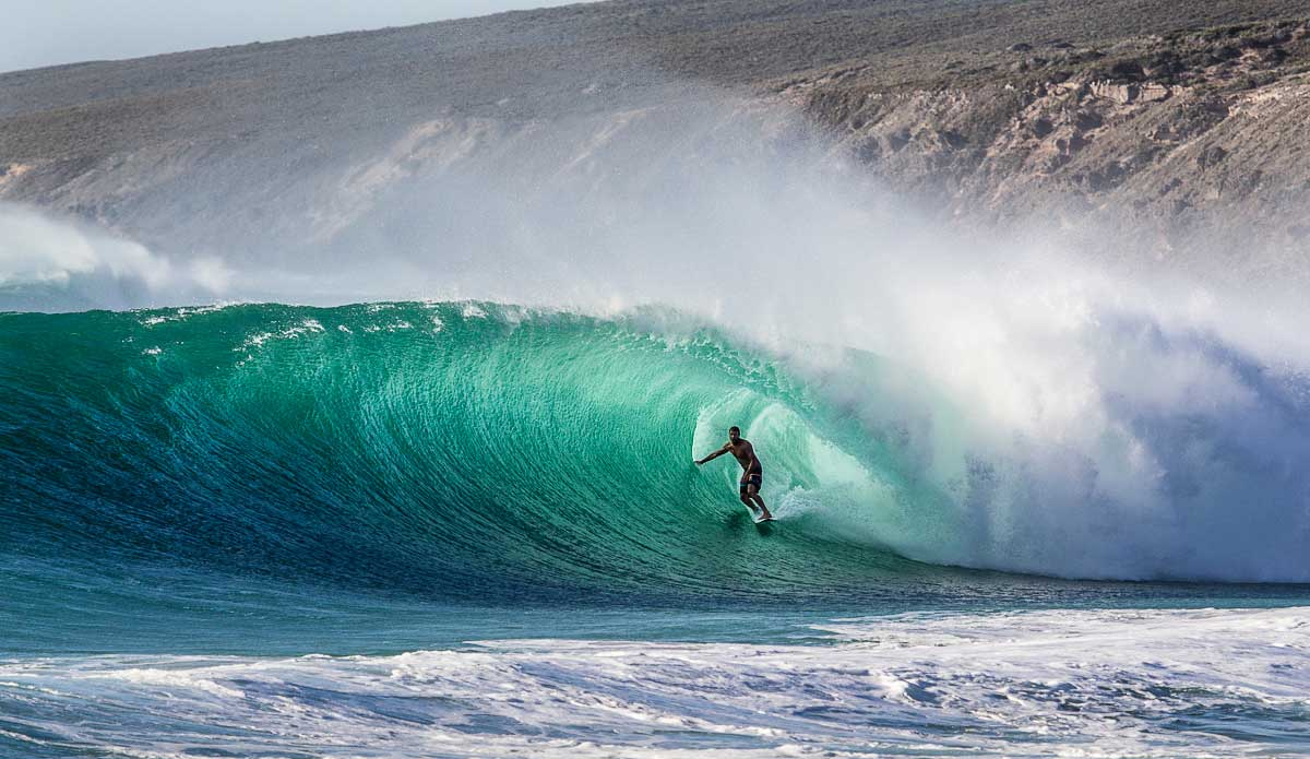 "Taj Burrow feeling right at home in West Oz. Photo: <a href=\""http://johnbarton.net.au/\"">John Barton</a>"