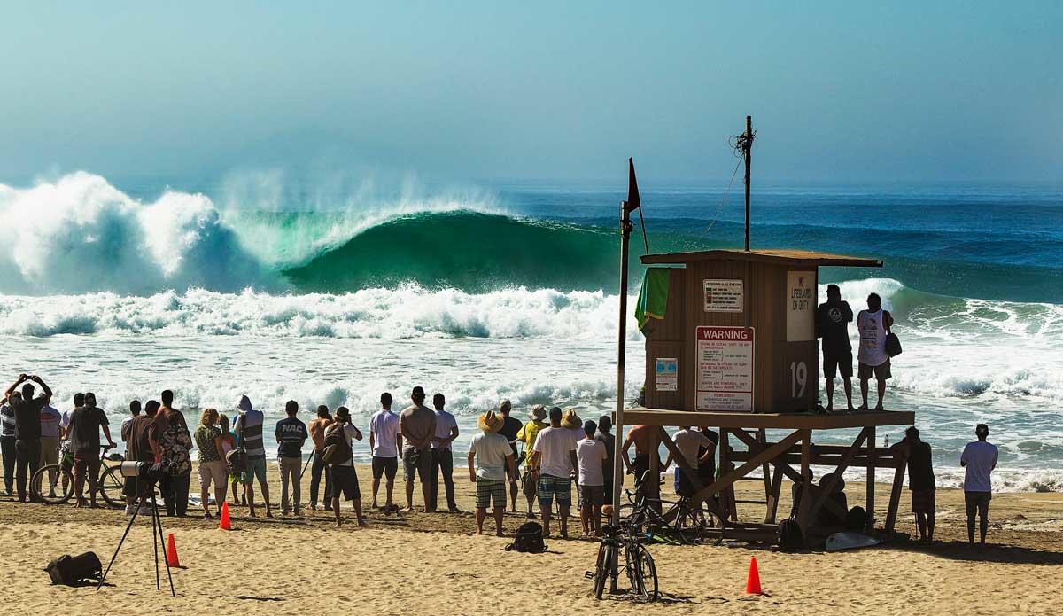 Hurrican Marie, Newport Point. Photo: Surfbreakrentals.com