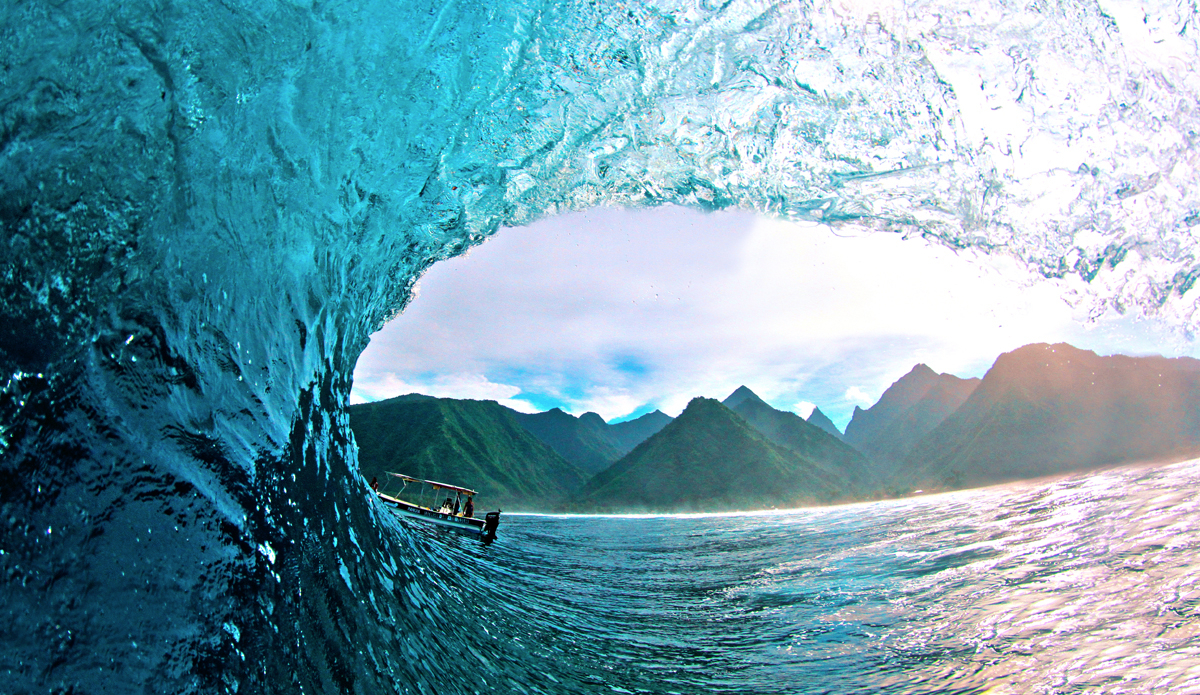 "Best view of Teahupoo. Photo: <a href=""https://www.facebook.com/pages/Jared-Sislin-Photography/258114520882025\"">Jared Sislin</a>"