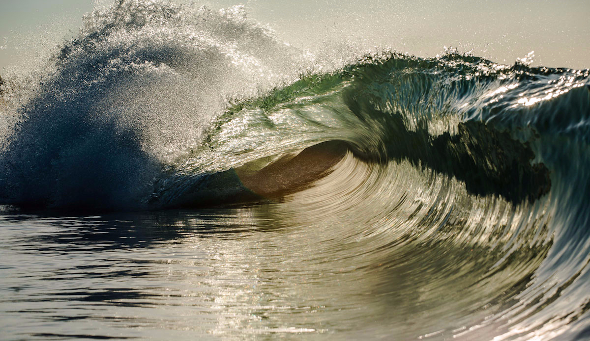 "A glowing little shore break wedge. Photo: <a href=""http://dasphotogallery.com/"">Dave Sieczkiewicz</a>"