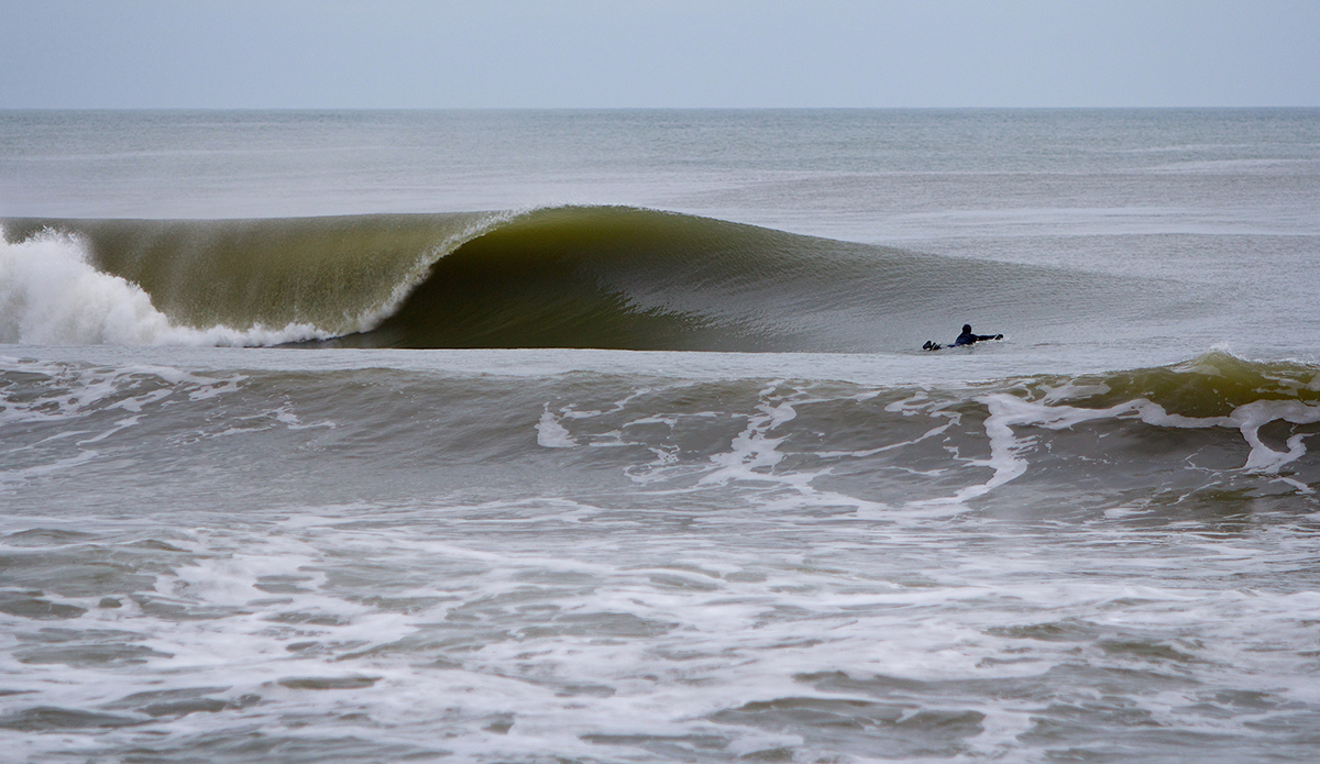 """Here's a photo from February 28, 2013 of my good friend Mike Best caught staring into one of the best formed waves I've ever seen here in New Jersey to date. Photo: <a href=""""http://bencurriephoto.zenfolio.com/"""">Ben Currie</a>"""