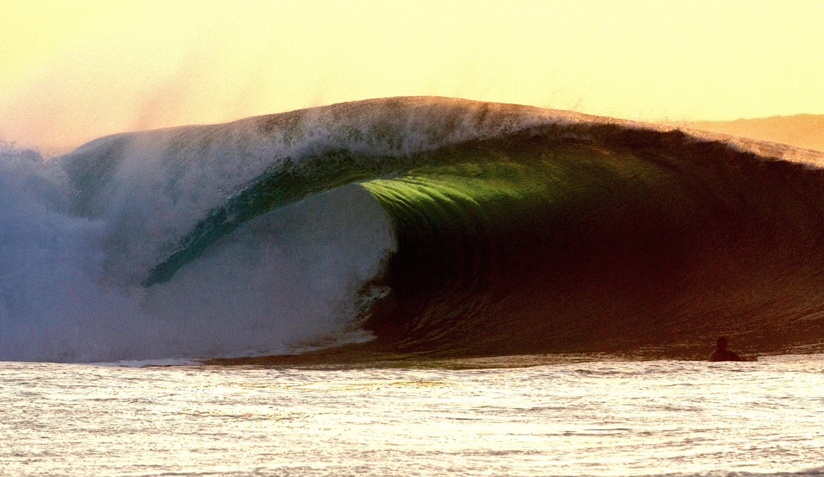 "Pipeline Golden Double-Up: Even though I had to fight the urge this whole afternoon I shot Pipe, I wanted that one image that would standout. Finally, this double-up did its thing at sunset. Photo: <a href=""https://instagram.com/evanfa"">Evan Fa</a>"