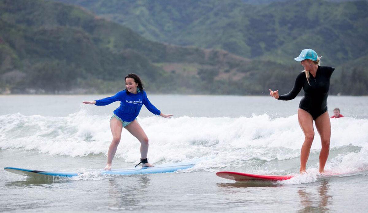 Wish Kid Kaitlyn with Bethany Hamilton Photo: Madi Marie
