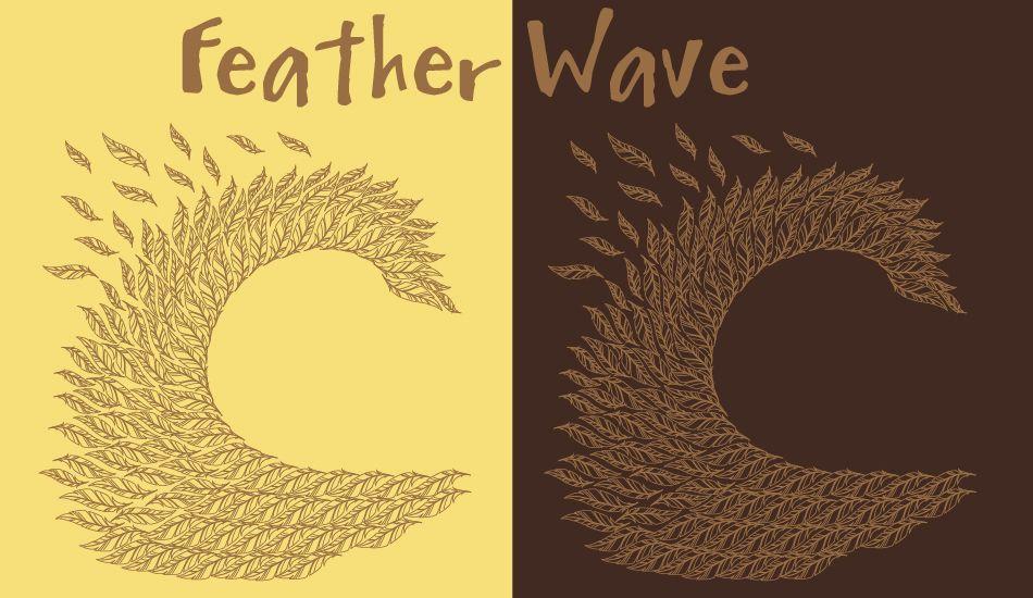 Feather Wave, Image: <a href= http://www.birdswell.com/ target=_blankBirdswell>BirdSwell</a>