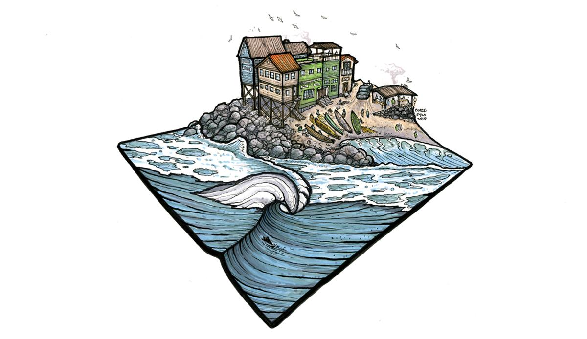 Pescadores. Illustration: Blaze Syka