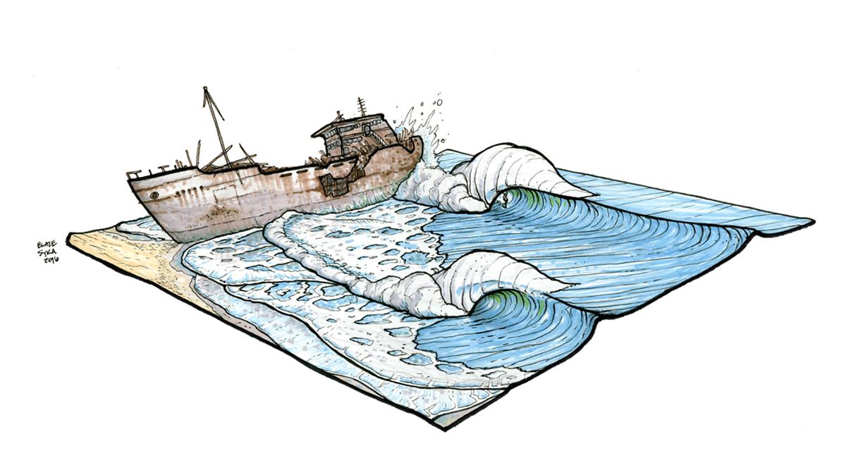 Shipwrecks. Illustration: Blaze Syka