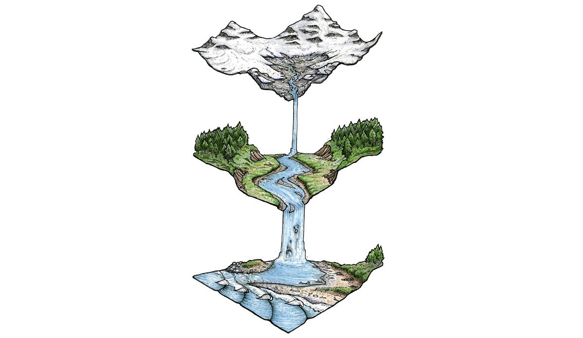 Water Sheds. Illustration: Blaze Syka