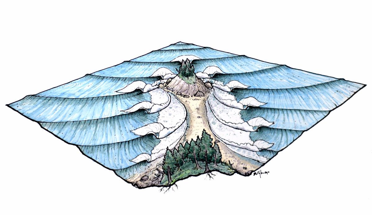 "Tombolo del Norte. Illustration: <a href=\""http://www.blazesyka.com\"">Blaze Syka</a>"