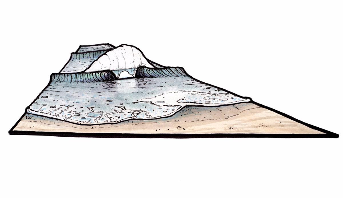 "Shore-pounder Wedge. Illustration: <a href=\""http://www.blazesyka.com\"">Blaze Syka</a>"