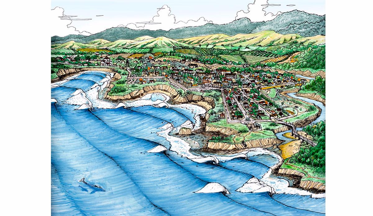 "California Town. Illustration: <a href=\""http://www.blazesyka.com\"">Blaze Syka</a>"