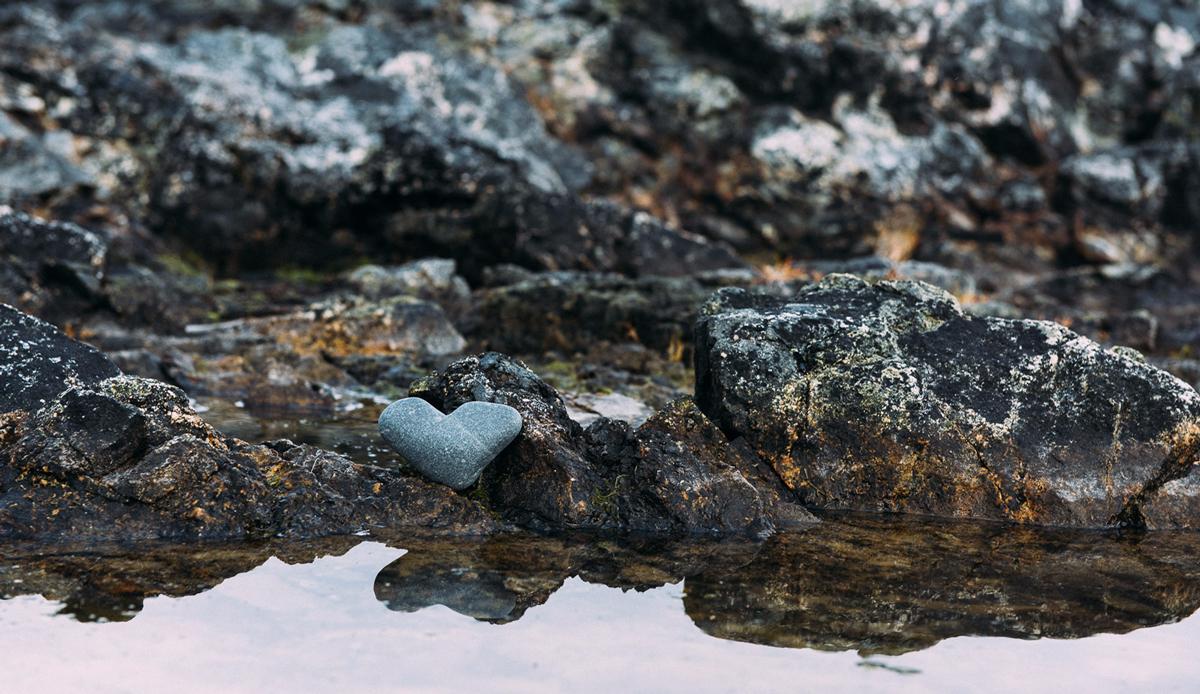 "Heart rock, Haines, Alaska. Photo: <a href=\""http://instagram.com/deanblottogray\"">Dean Blotto Gray</a>"