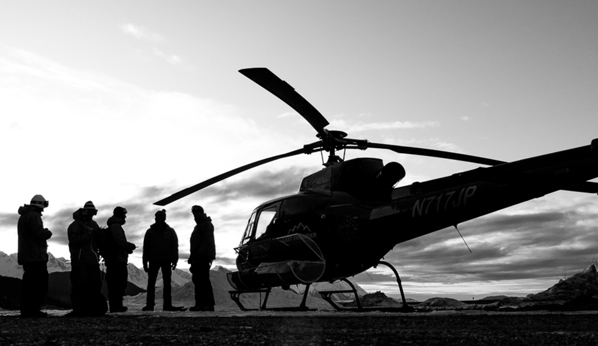 """The metal bird, our transportation, access to tall peaks and sometimes a moving tripod when the doors come off and they strap in the filmer and photographer and let us hang from the side while shooting! Photo: <a href=\""""http://deanblottogray.com/\"""">Blotto</a>"""