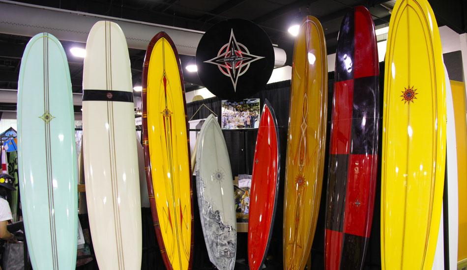 "Wayne Rich\'s beautiful surfboards. Photo: <a href=\""http://www.verbtv.com\""> VERB TV</a>"