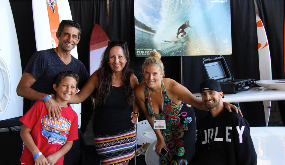 "Wavejet\'s Kelly Virgulto along with Jesse Billauer, founder of Life Rolls On. Photo: <a href=""http://www.verbtv.com\""> VERB TV</a>"