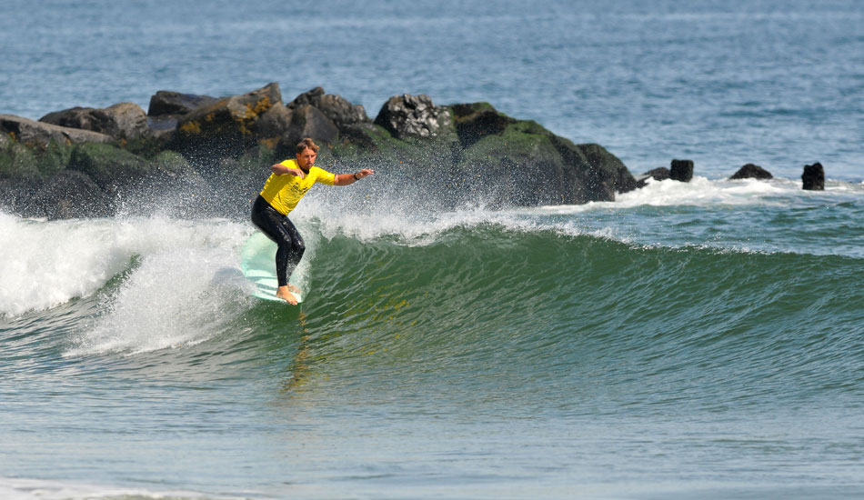 """Justin Quintal winner of the 2013 Belmar Longboard Pro. Photo: <a href=\""""http://jerseyshoreimages.com/about.html\"""">Robert Siliato</a>"""
