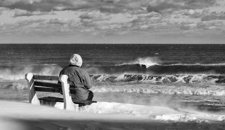 """A true friend is someone who watches you surf in 15 degree F air temp and 25 mph wind gusts during a polar vortex. Photo: <a href=\""""http://jerseyshoreimages.com/about.html\"""">Robert Siliato</a>"""