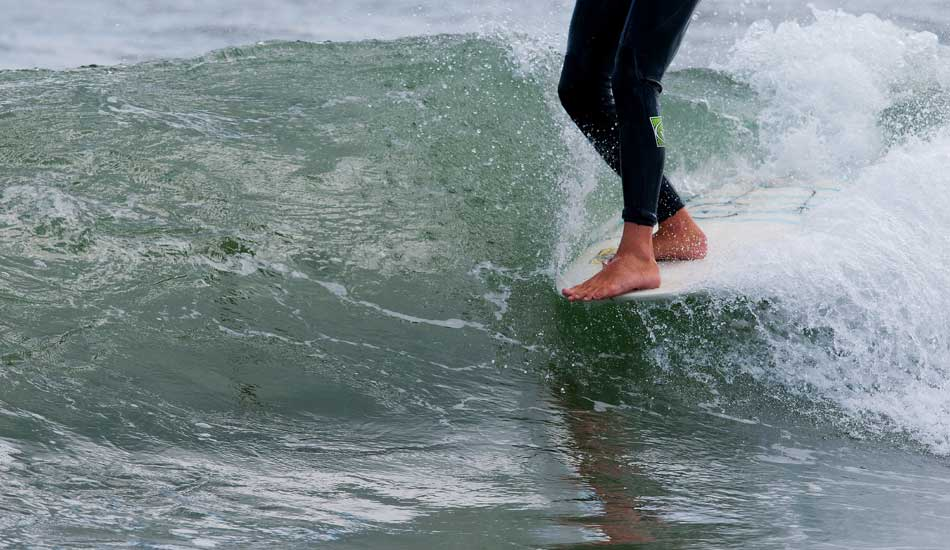 """JJ Eagan with 5 toes over during the 2013  Belmar Longboard Pro. Photo: <a href=\""""http://jerseyshoreimages.com/about.html\"""">Robert Siliato</a>"""