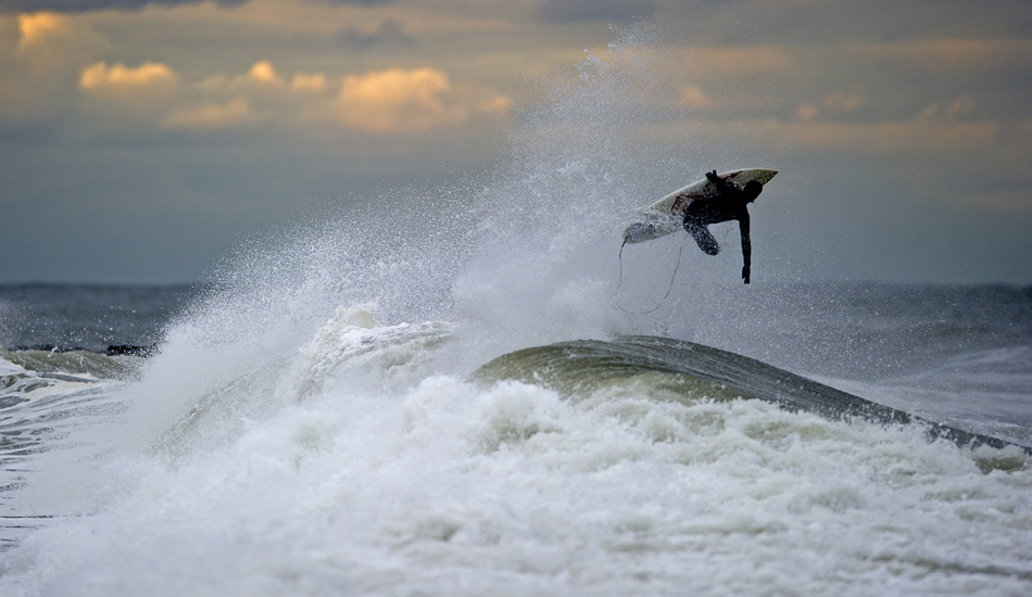 """Unknown Surfer punching through a closeout. Avon, New Jersey. Photo: <a href=\""""http://jerseyshoreimages.com/about.html\"""">Robert Siliato</a>"""
