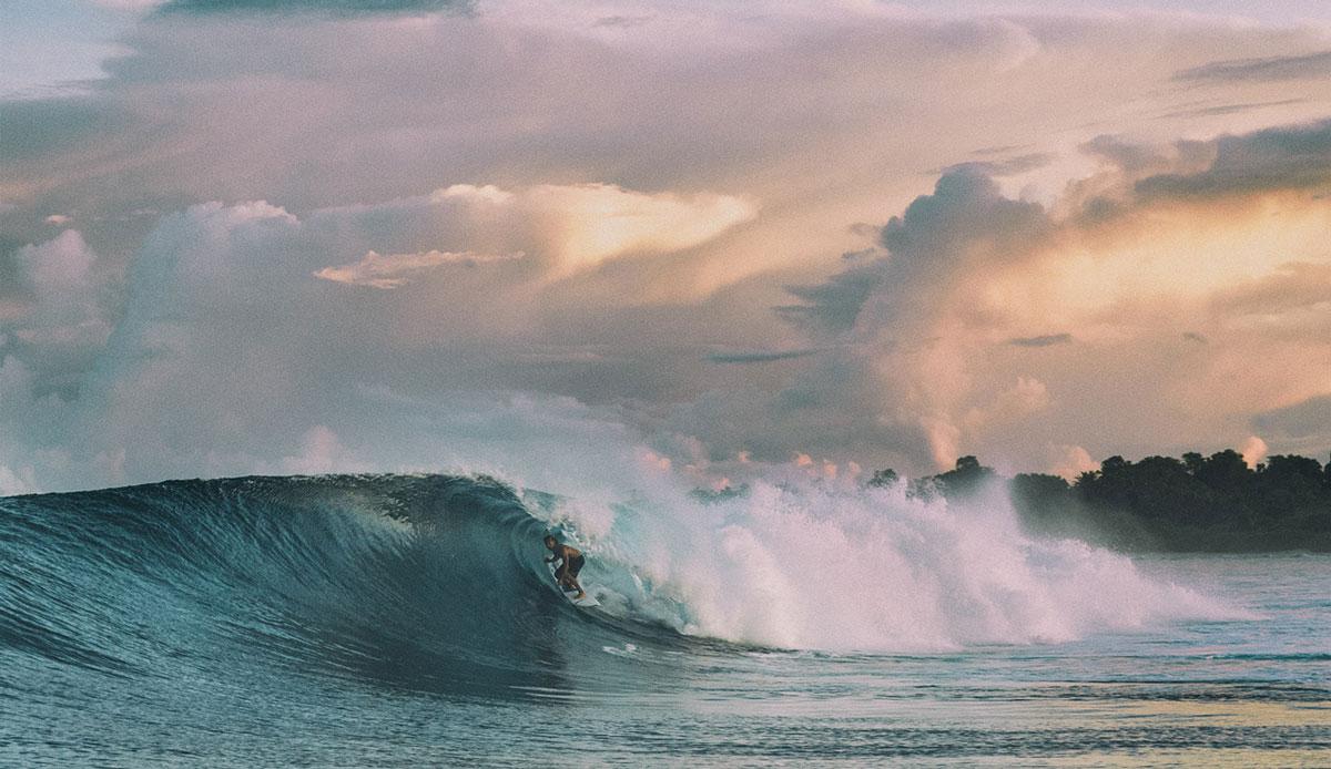 "Surf guide, Goncalo Ruivo, on another secret wave. Photo: <a href= \""http://joaobracourt.com/\"" target=_blank>Joao Bracourt.</a>"