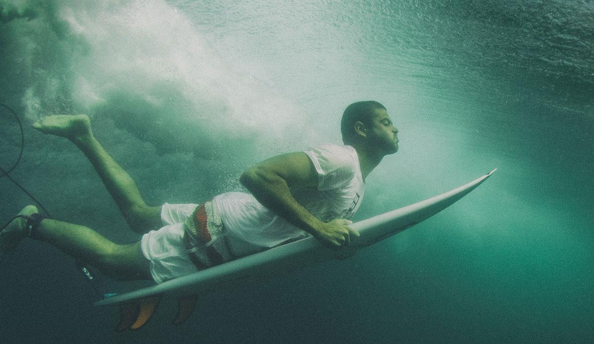 "Duckdive portrait. Photo: <a href= \""http://joaobracourt.com/\"" target=_blank>Joao Bracourt.</a>"
