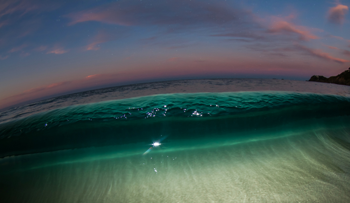 "When artificial light reacts with ambient light, Main Beach Forster. Photo: <a href=""http://brentonderooy.com/\"">Brenton de Rooy</a>"